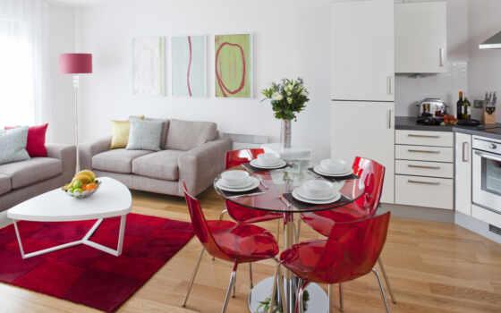 интерьер, color, красное, red, design, мебель, стена, идея, яркий