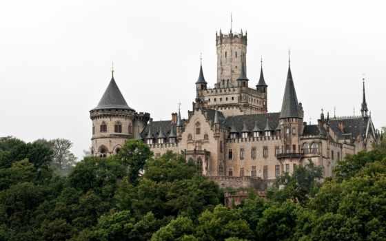 замок, германия, германии