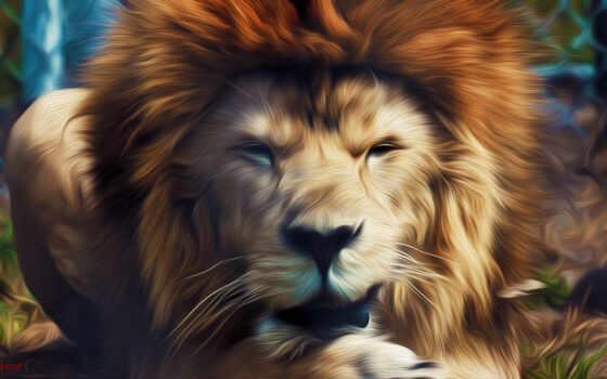 lion, кошки, дикие, львы, хищники, zhivotnye, king, full, зоопарке, зверей,