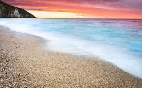 desktop, закат, пляж, resolutions, фон, widescreen,