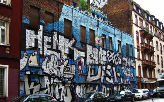 улица, graffiti, красочными
