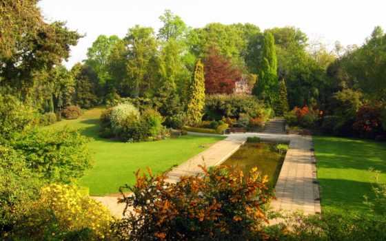сады, картинка, паркс