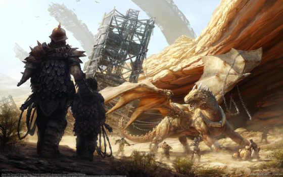 boy, дракон, цепи, hunting, дракона, свой, охотники, совершенно,
