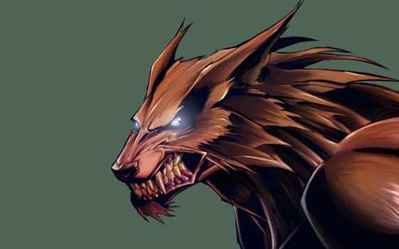 fantasy, волк, artistic, ухмылка, волчий, добавить, art, werewolf,