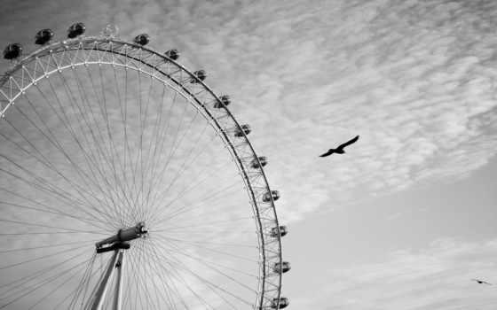 london, колесо, обозрения, глаз,