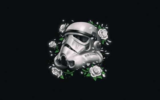 star, war, шлем, stormtroop, цветы, минимализм, minimalizm, troop, art, цвета