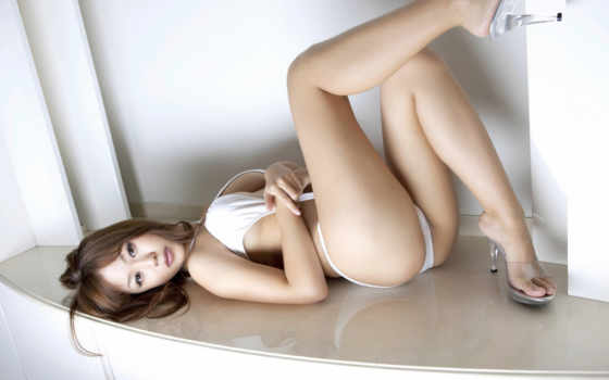 азиатка, грудь, ножки