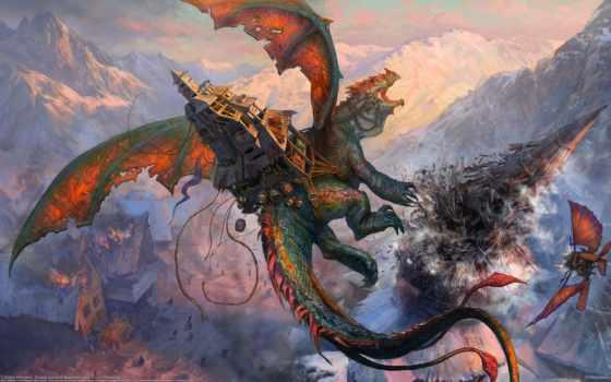 драконы, фэнтези, дракон Фон № 64653 разрешение 2560x1440
