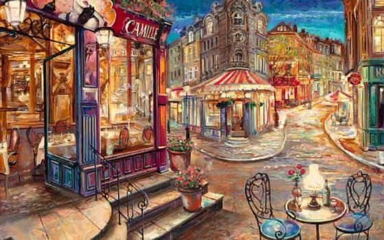 париж, парижа, улочки, от, улицы, эго, июня,