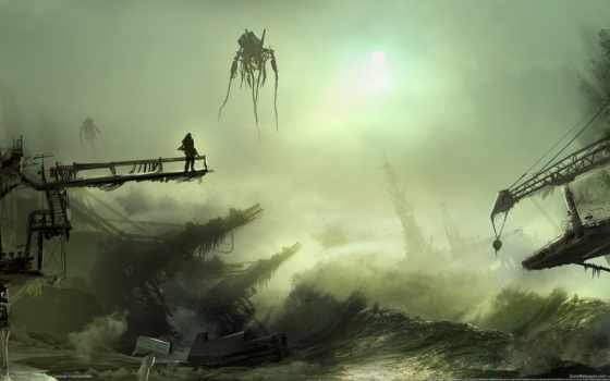 апокалипсис, fantasy, artwork, смерть, уничтожение, chaos, water, art, science, pinterest,