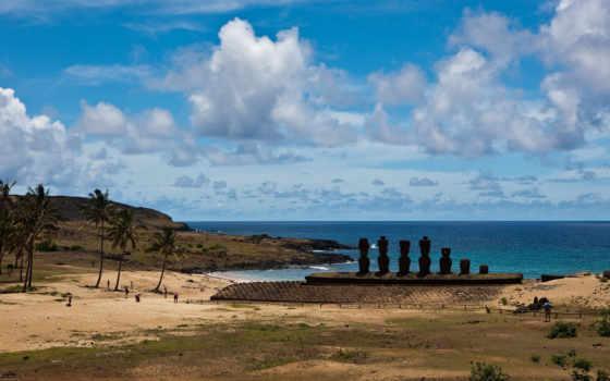 пасхи, остров, острова, secret, последняя, нояб, статуй, карте, тихого, части,