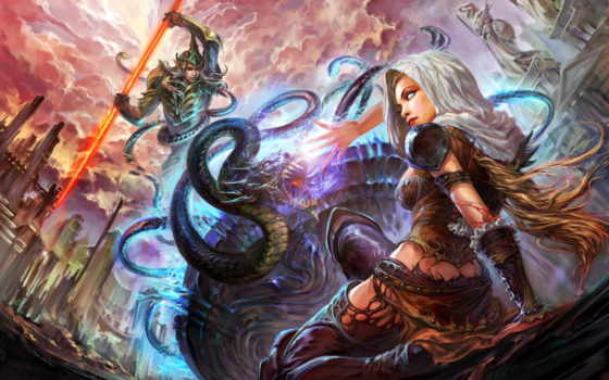 world, forsaken, совершенн, битва, swords, драконы, dragons, knights, mmorpg,