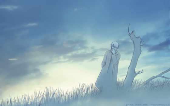 mushishi, гинко, фон, изображение, anime,