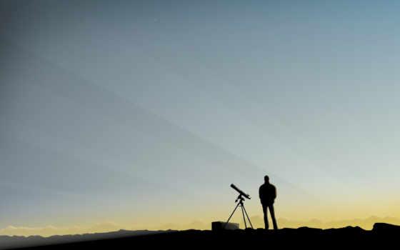 человек, телескоп