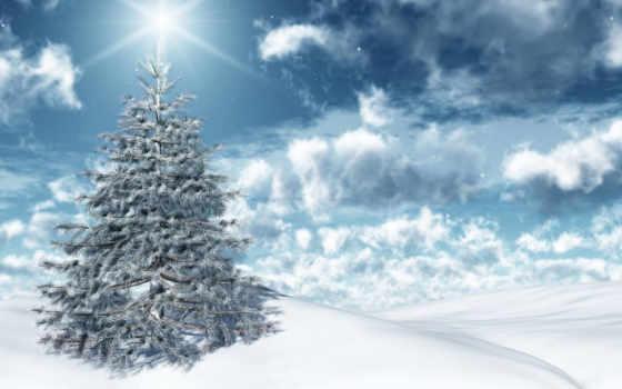 new, год, winter Фон № 53198 разрешение 1366x768