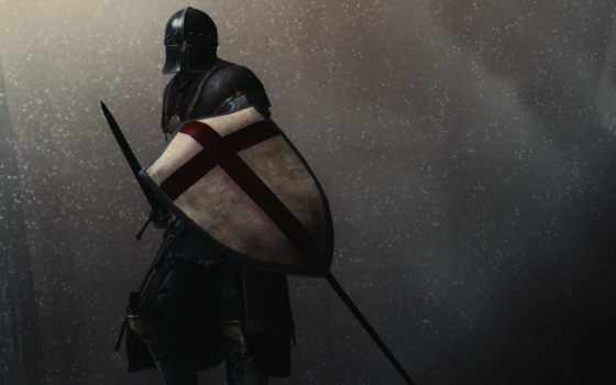 шлем, воин, меч