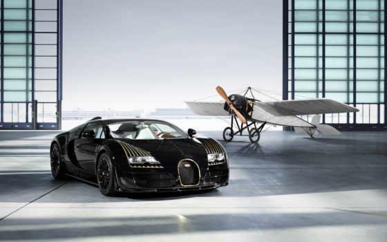 bugatti, veyron, black