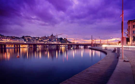 sweden, stockholm, вечер