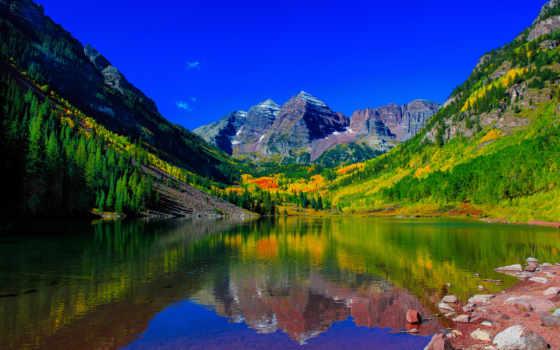 пейзажи -, landscape, озеро, горы, природа, park, belmont, закаты, склянки,