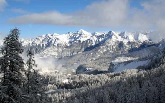 горы, зимние, горах, снег, рейтинг, winter, голосов, банка, пейзажи -, зимой,
