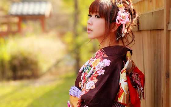 кимоно, девушка, japanese, азиатка, asian, стиль, японская, devushki,