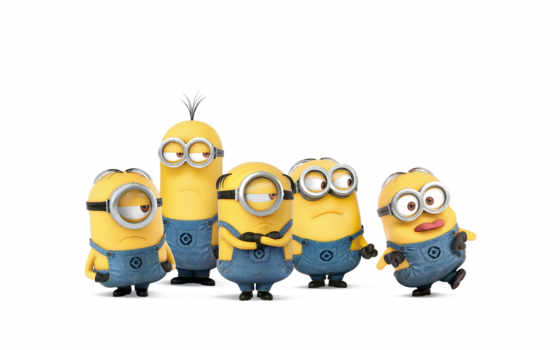 миньоны, minions, детские, white, желтые, фотообои, designecoprint, zoom,