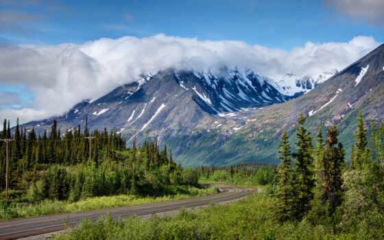 гора, del, mobile, аляска, usa, природа, naturaleza, highway, park, джордж