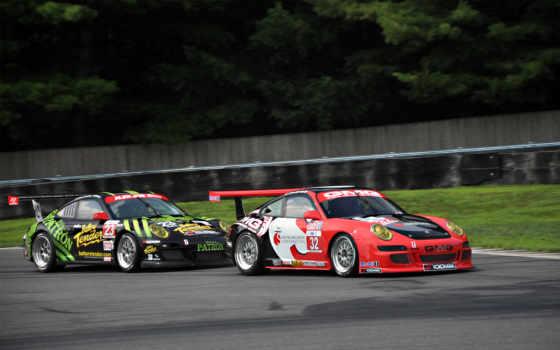 car, race, porsche