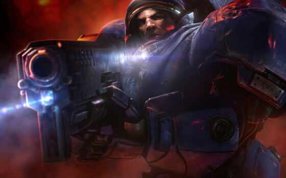 tychus, findlay, starcraft, marine, доспех, games, blizzard,