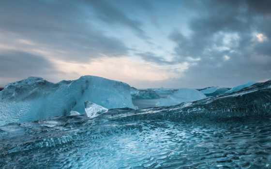 лед, mountains, frozen, море, winter, landscapes,