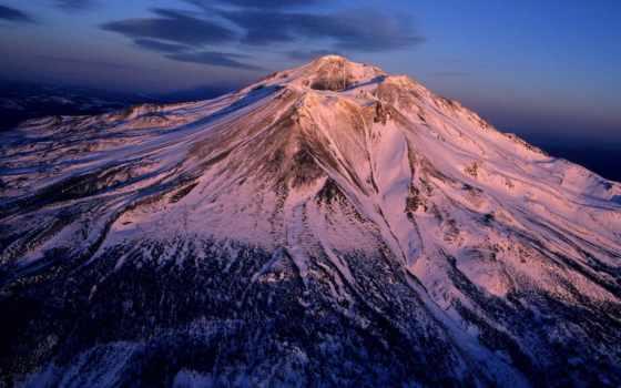 shasta, вулкан, гора, sleeping, вулканы, горы, каскадных, гор,
