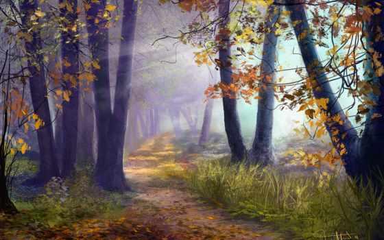 лес, арт