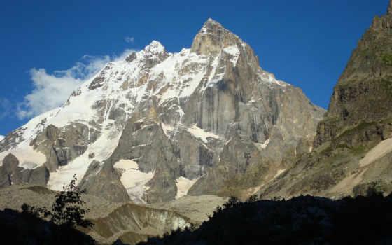 горы, природа, снег