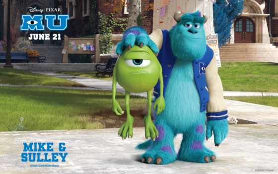 monsters, university, james, sullivan, mike, inc, sulley, monster, pixar,
