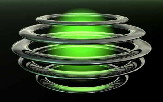 круги, свечение, зеленое, black, картинка, мяч, картинок, belavin,