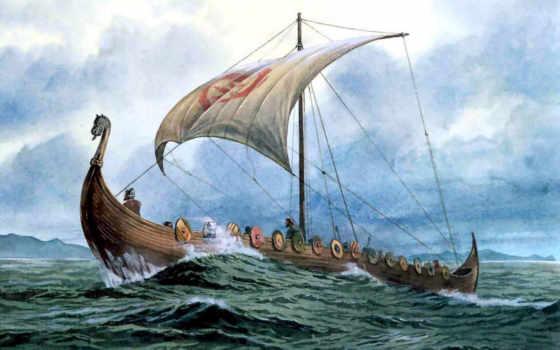 gokstad, викингов, ship, ships, камень, изображение, дублин, живопись, korsan, были, great, солнечный, csg,