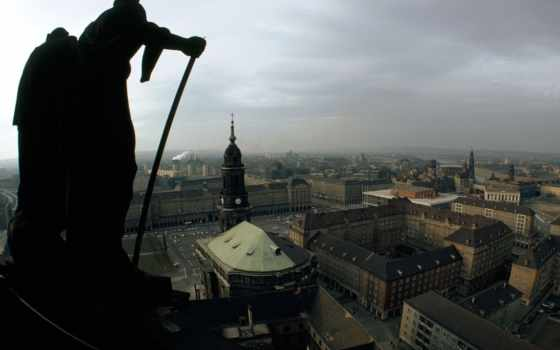 статуя, город, hall, германия, dresden, photography, sculpture,