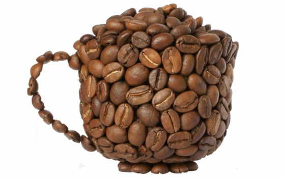 coffee, beans, прозрачный, фон, bean, png, cup