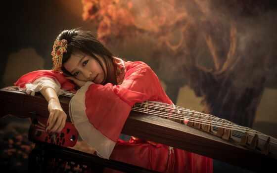 инструмент, музыка, китаянка, музы, sample, duhovoi, взгляд, девушка, folk, струнный