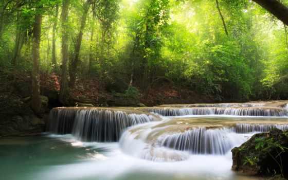 клипарт, растровый, водопады