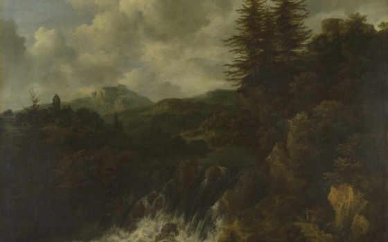 ван, landscape, водопад