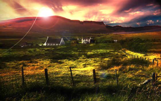 шотландии, scotia, природа