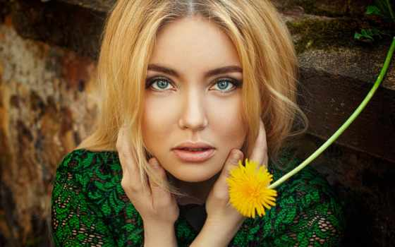 blonde, portrait, когда, hiukset, women, hands, голова, free,