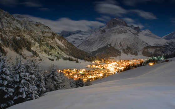 гора, mancini, henry, ночь, музыка, austrian