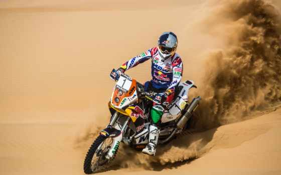 rally, dakar, песок, мотоцикл, bull, red, пустыня, гонщик, газ,
