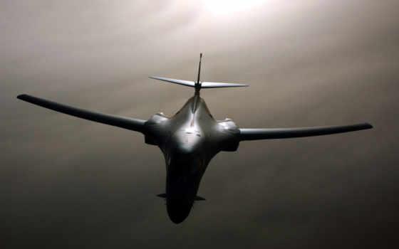 lancer, rockwell, бомбардировщик, авиация, крылом,