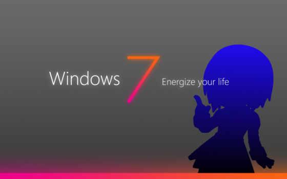 windows, Se7en, madobe, nanami, силуэт