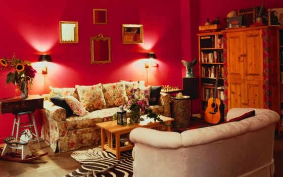 интерьере, цветов, сочетание, красного, red, спальни, интерьера, design, интерьер,