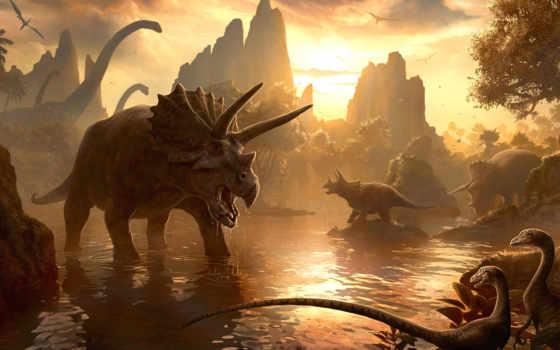 динозавры, картинка, динозавров,