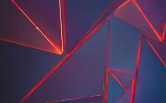 geometric, shape, neon